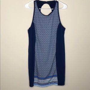 Tropical escape swim dress size 16, blue